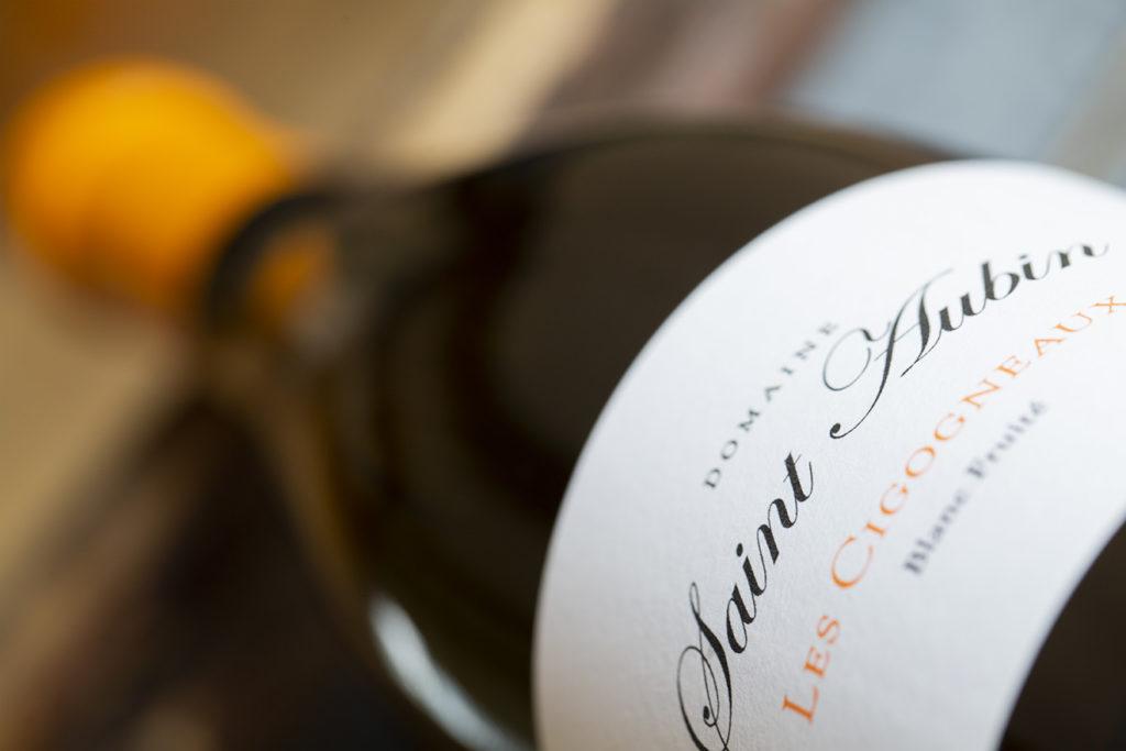 Etiquette de vin blanc