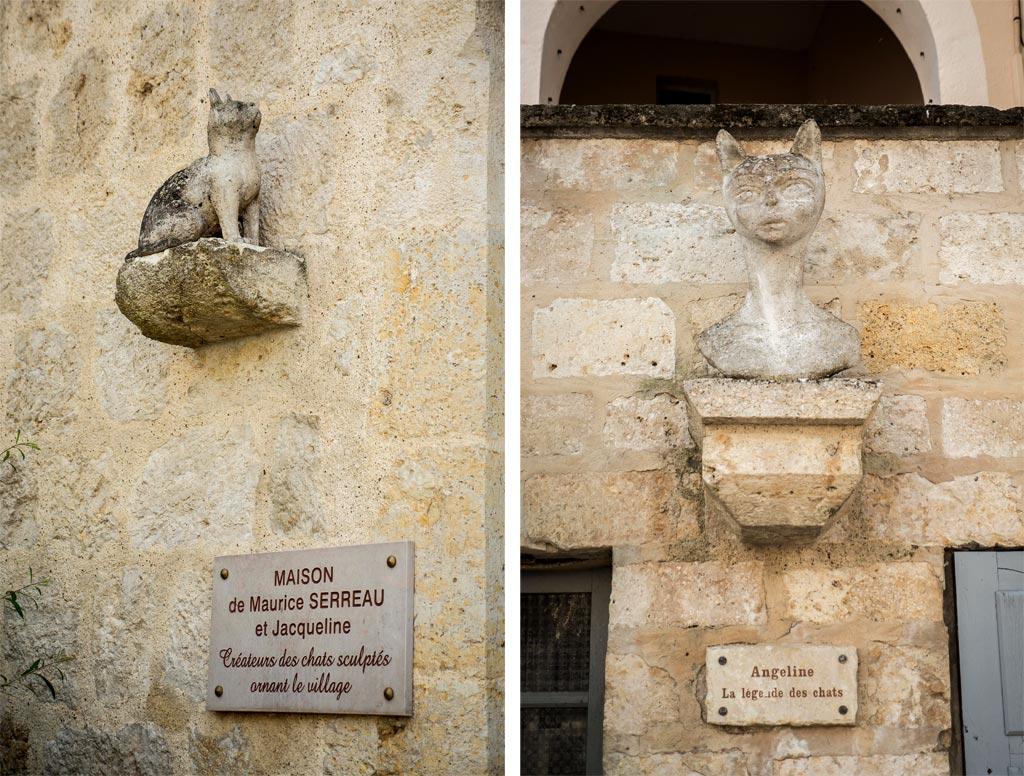 Sculpture Serreau chats Gers