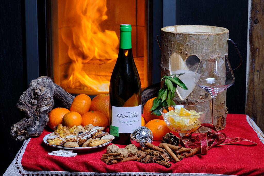 Vin blanc Saint Aubin et épices